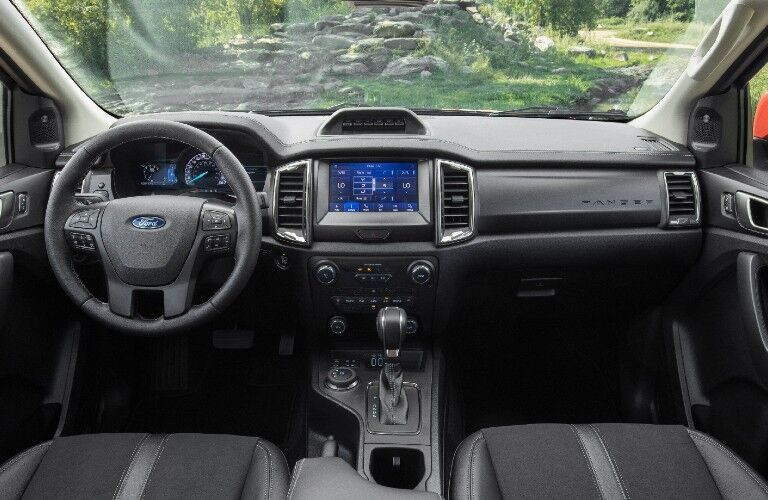 2021 Ford Ranger interior front dash