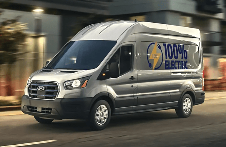 2022 Ford E-Transit from side