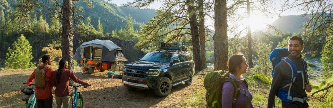 2022 Ford Expedition at a camping site