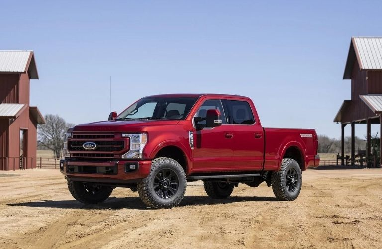 2022 Ford Super Duty front and side look