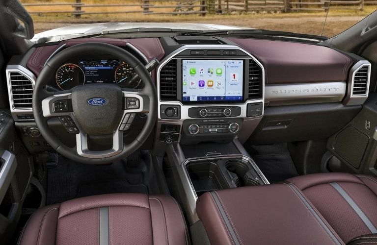 2022 Ford Super Duty dashboard view from inside