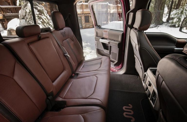 2022 Ford Super Duty back seats view