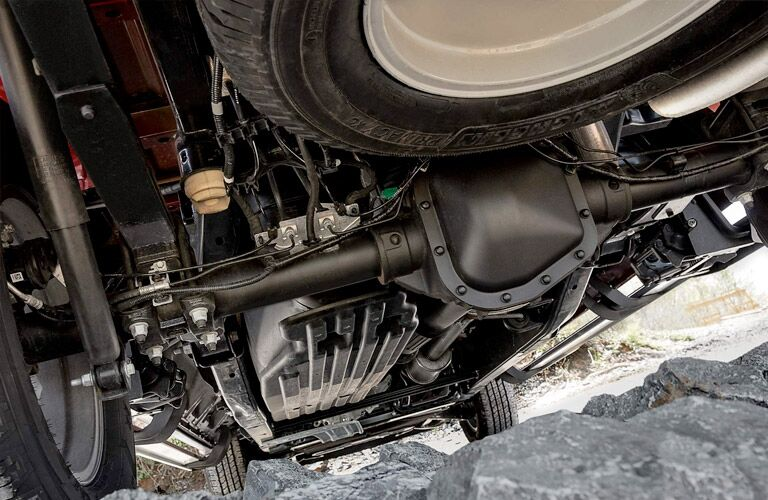 underbody view of the 2018 Ford F-150