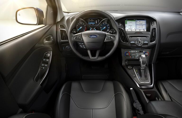 Interior of 2017 Focus built with excellent fit and finish. Top in the class