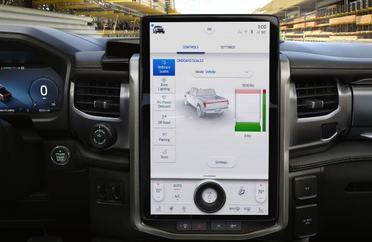 Infotainment display in 2022 Ford F-150 Lightning