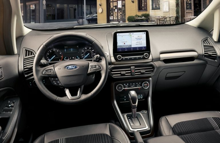Interior front dash of 2020 Ford EcoSport
