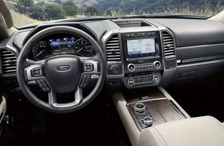 Interior front dash of 2020 Ford Expedition