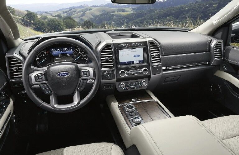 Interior front dash of 2021 Ford Expedition