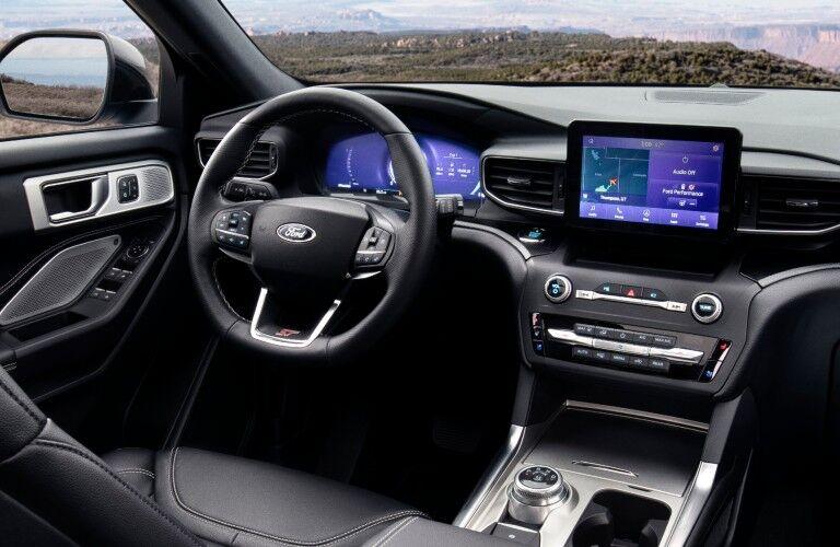Interior front dash of 2021 Ford Explorer