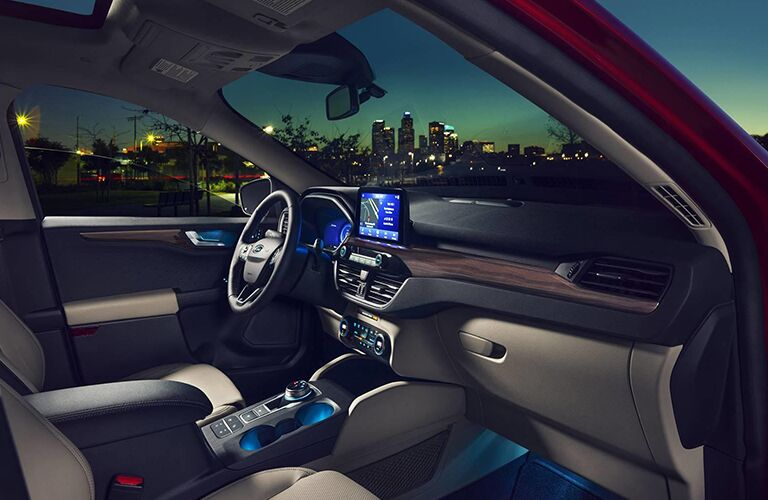 Interior front seat of 2020 Ford Escape