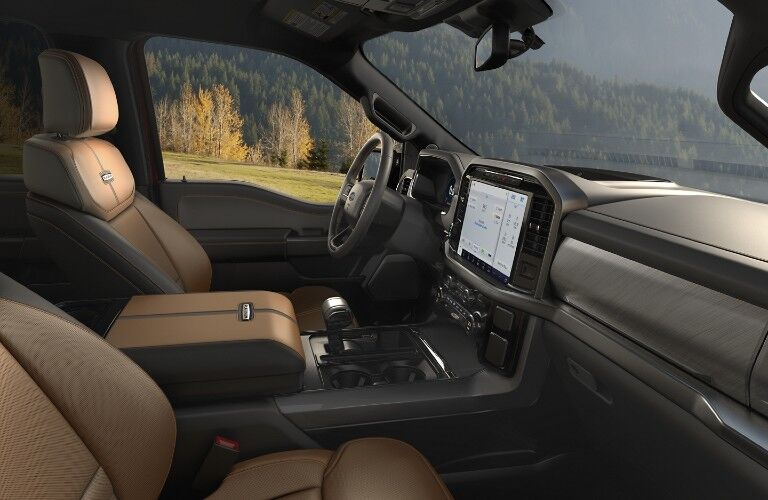 Interior of 2021 Ford F-150