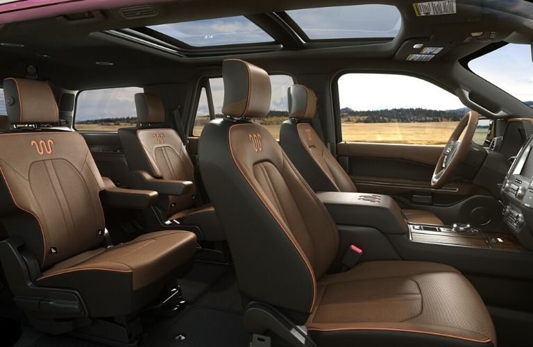 Interior seats in 2020 Ford Expedition King Ranch