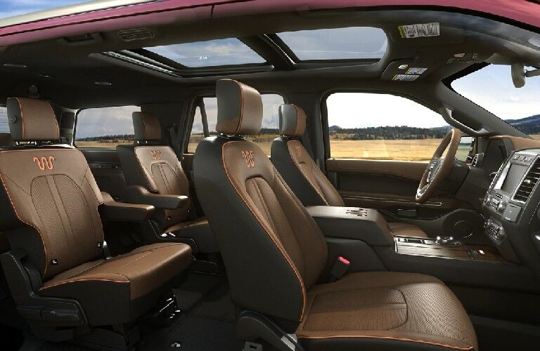 Seats in the 2021 Ford Expedition