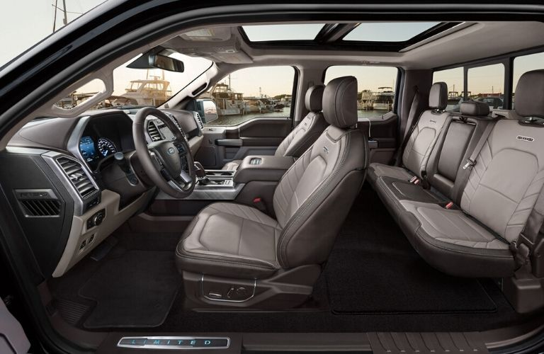 Seats inside 2020 Ford F-150
