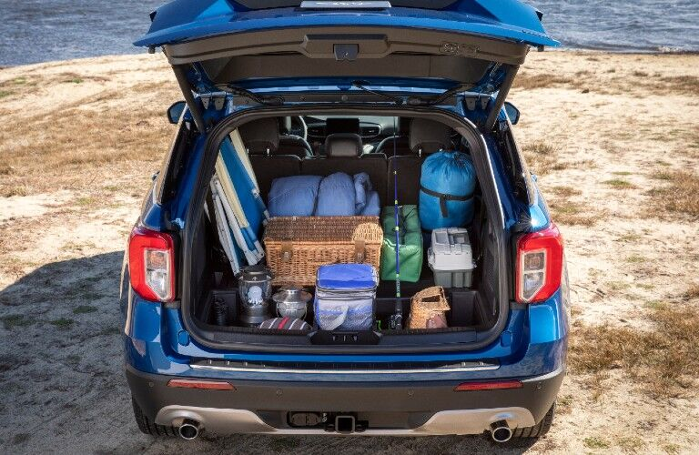 Trunk of 2021 Ford Explorer