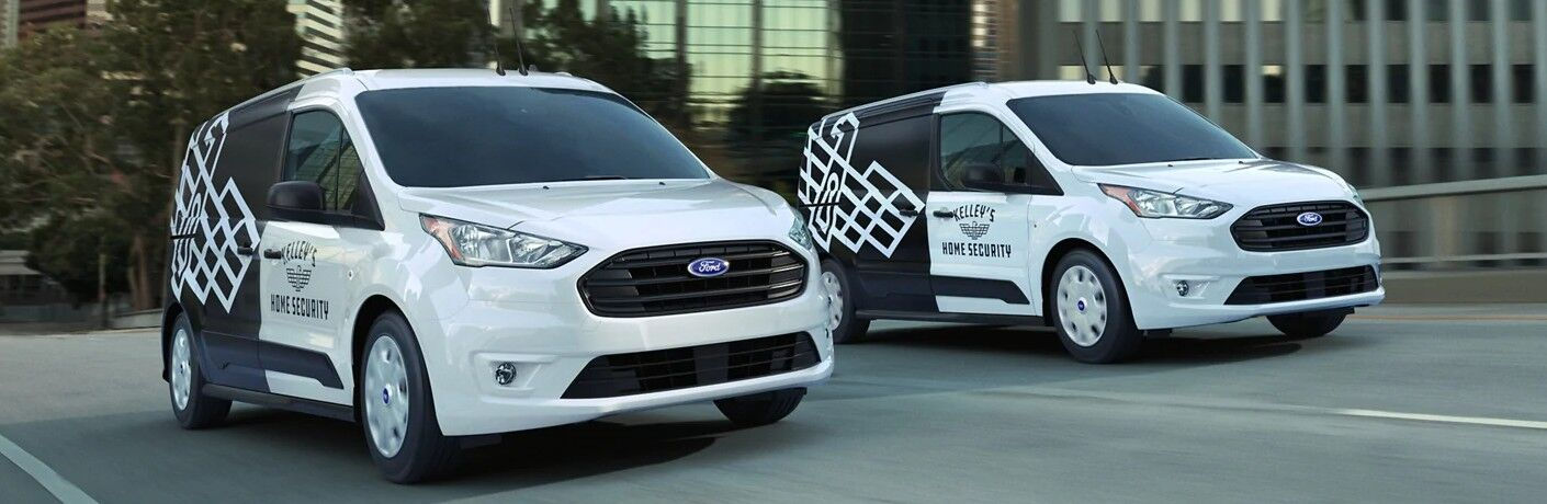 2021 Ford Transit Connect models on road
