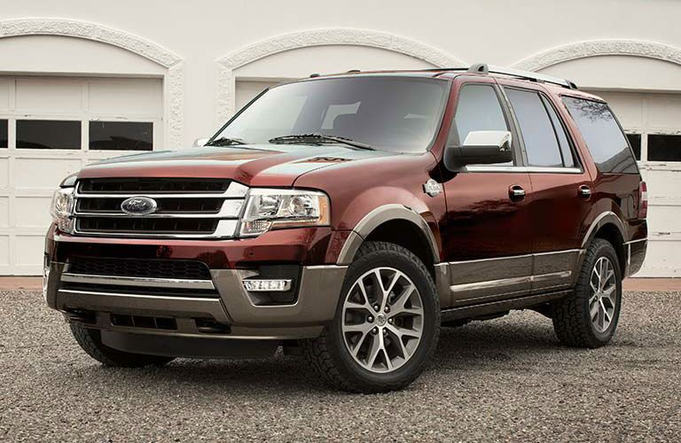 Red 2016 Ford Expedition parked
