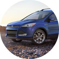 side view blue 2016 Ford Escape