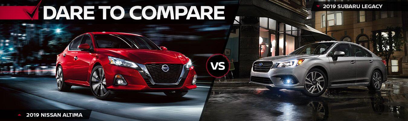 2019 Nissan Altima vs 2019 Subaru Legacy