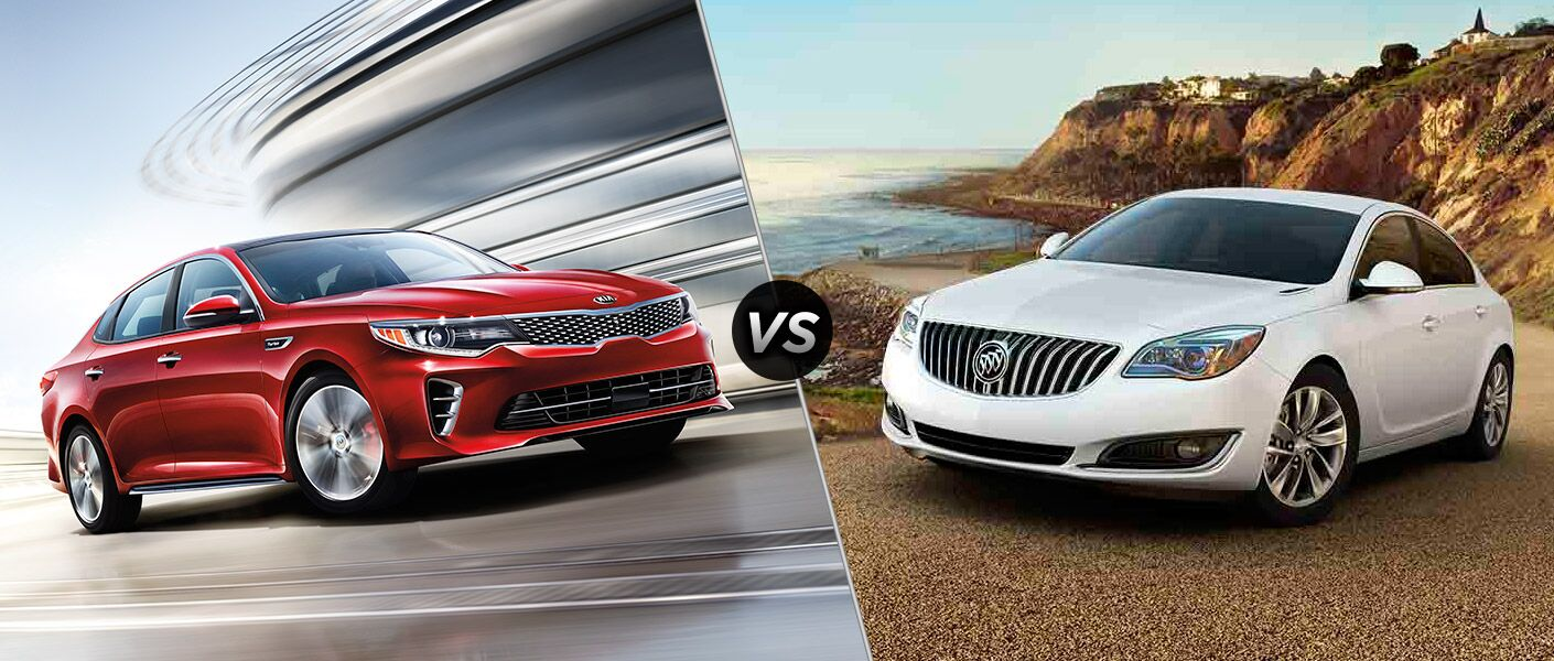 2016 Kia Optima vs. 2016 Buick Regal midsize sedans