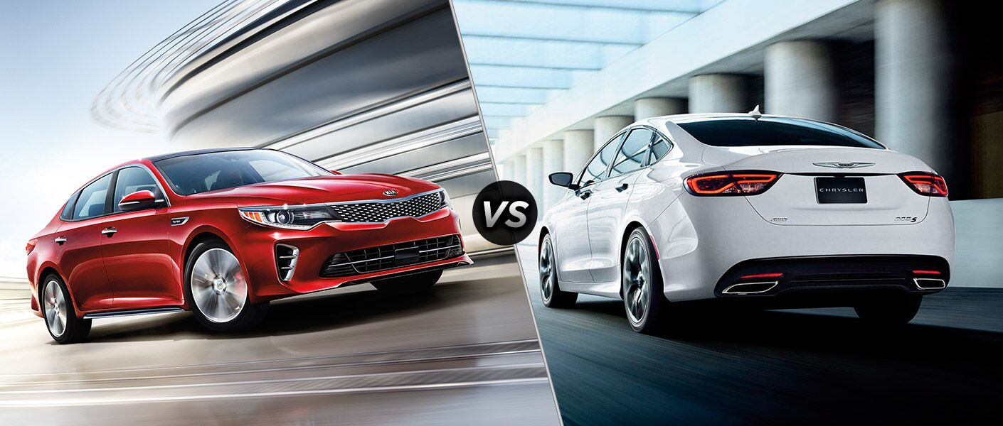 2016 Kia Optima midsize sedan vs. 2016 Chrysler 200 St. Petersburg FL