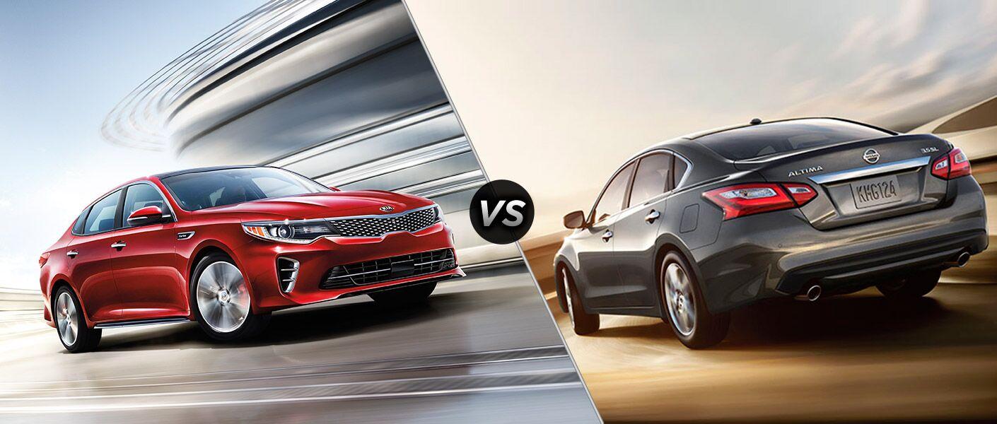 2016 Kia Optima vs 2016 Nissan Altima midsize sedans Friendly Kia New Port Richey FL