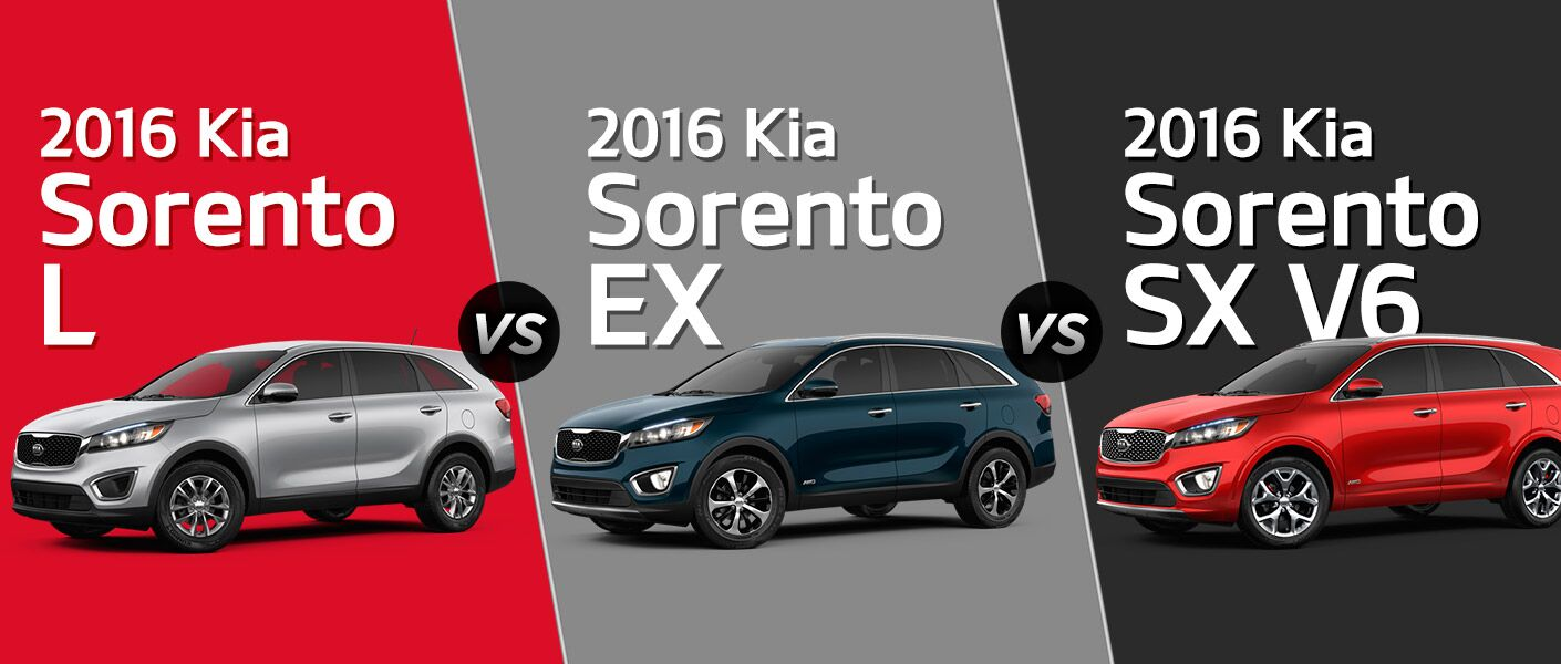 2016 Kia Sorento L vs. EX vs. SX Turbo New Port Richey FL Friendly Kia