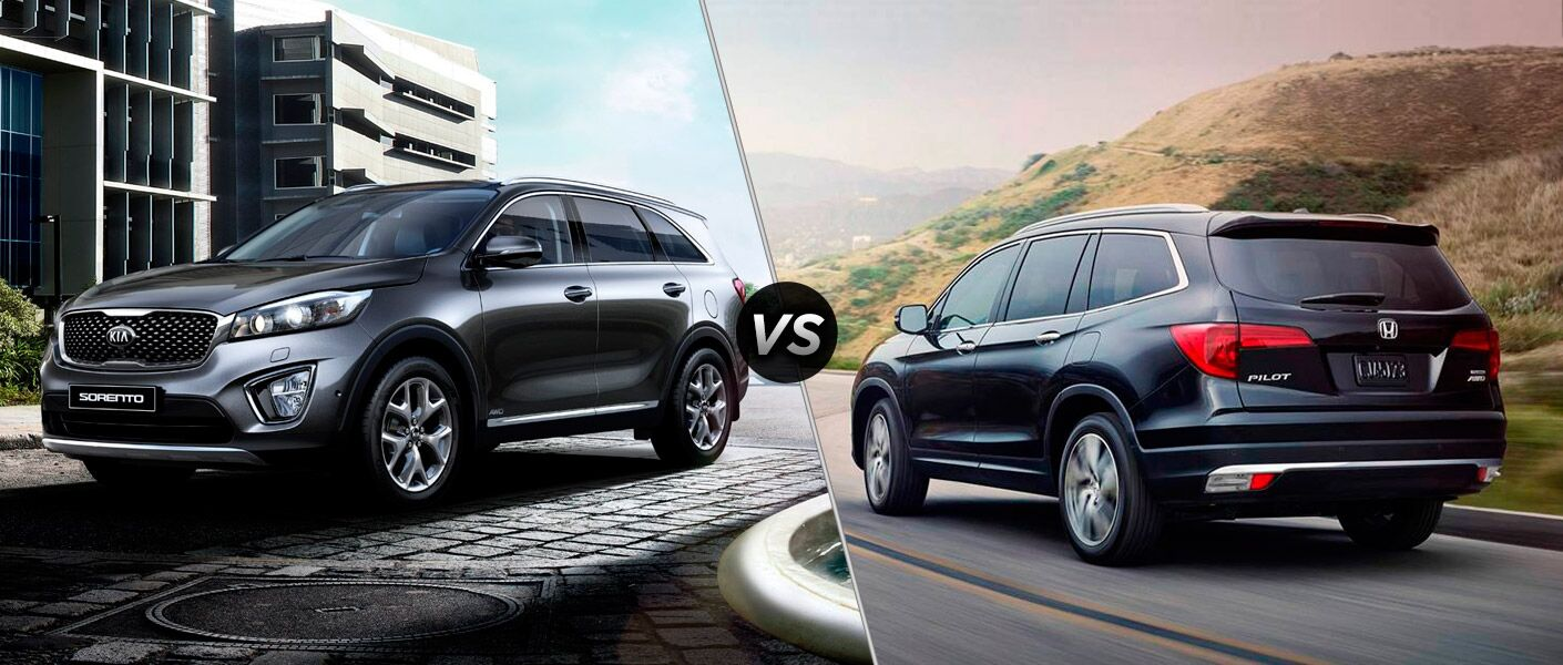 2016 Kia Sorento vs. 2016 Honda Pilot SUVs JD Power Initial Quality Leader Kia industry-leading warranty IIHS Top Safety Pick for 2016 Friendly Kia of New Port Richey Tampa Clearwater Spring Hill St. Petersburg FL