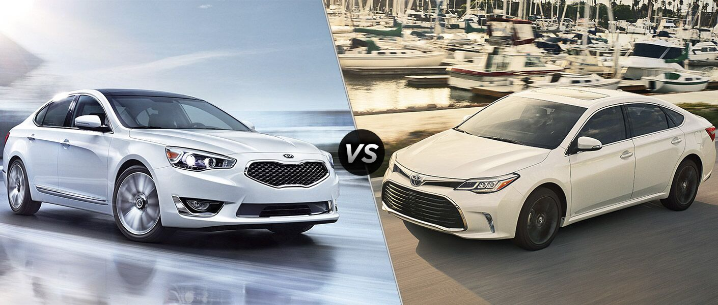 2016 Kia Cadenza vs 2016 Toyota Avalon luxury sedans HP 12 speakers Friendly Kia of New Port Richey Tampa Clearwater Spring Hill Trinity FL