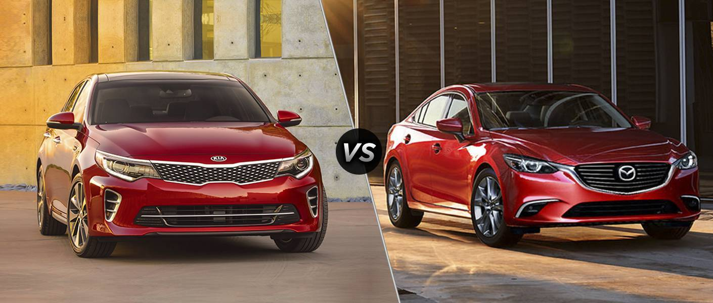 2016 Kia Optima Vs 2016 Mazda6