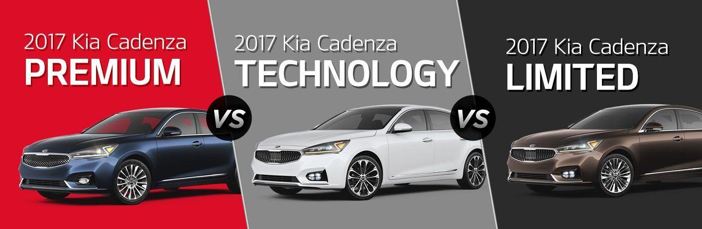 2017 Kia Cadenza Premium vs. Technology vs. Limited