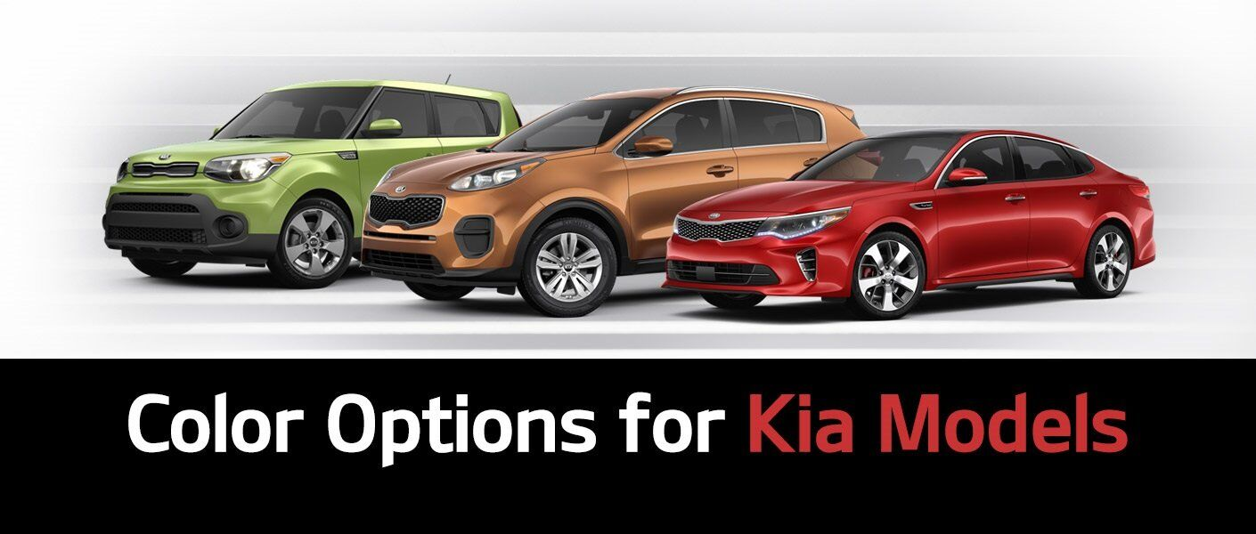Color options for new Kia models Optima Sorento Sportage Sedona