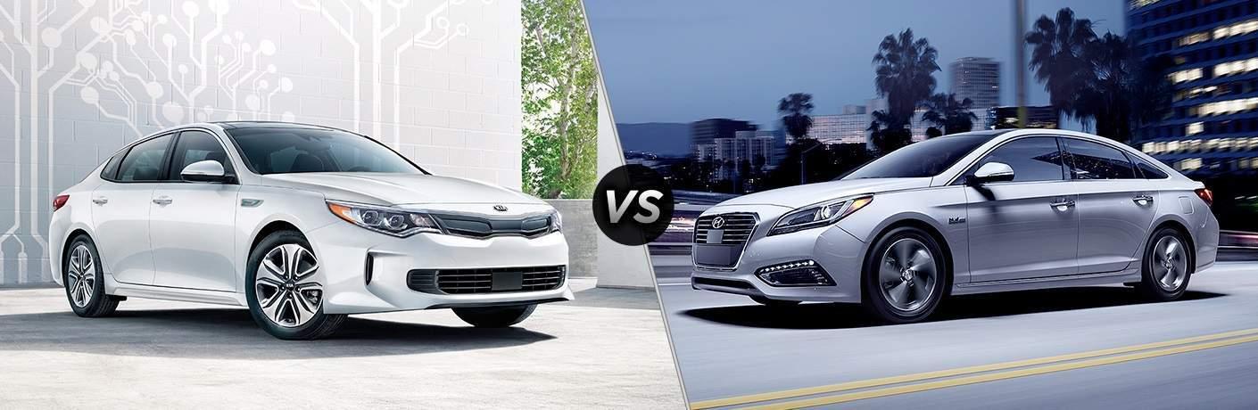 2017 Kia Optima Hybrid vs. 2017 Hyundai Sonata Hybrid