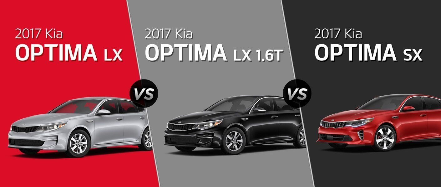 2017 Kia Optima trim levels LX LX 1.6T EX SX SXL Clearwater FL