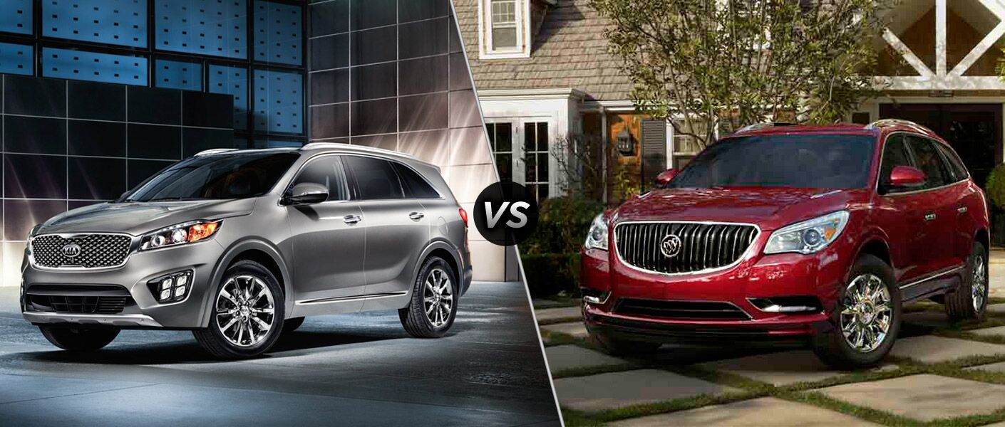 2017 kia sorento vs 2016 buick enclave. Black Bedroom Furniture Sets. Home Design Ideas