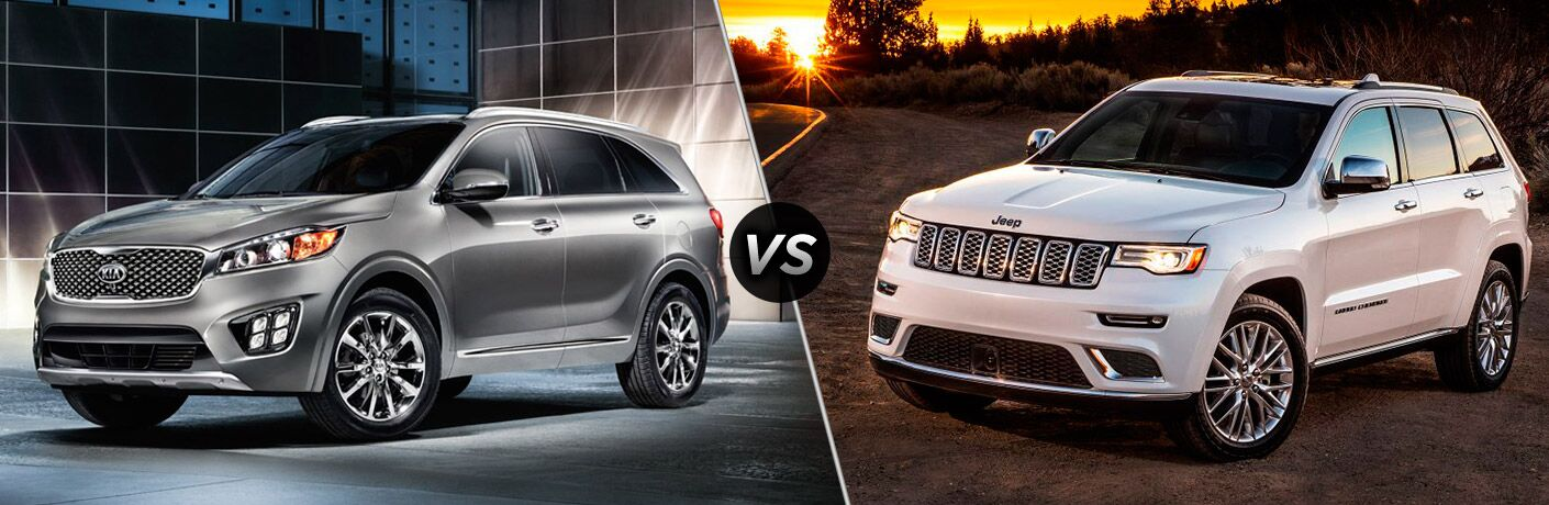 Cherokee Vs Grand Cherokee >> 2017 Kia Sorento vs. 2017 Jeep Grand Cherokee