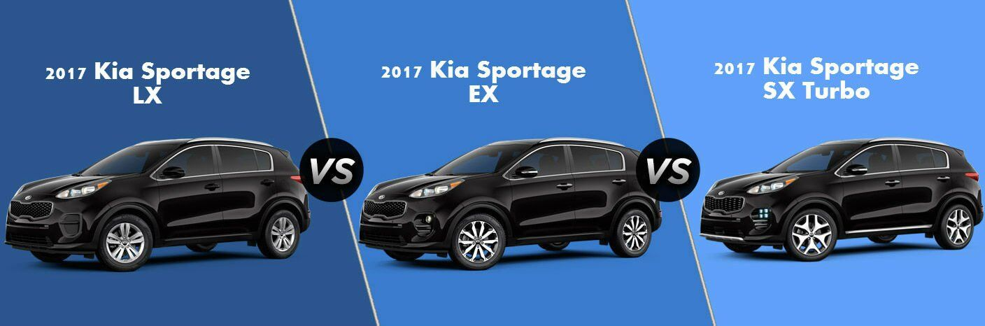 2017 Kia Sportage trim options LX EX SX Turbo
