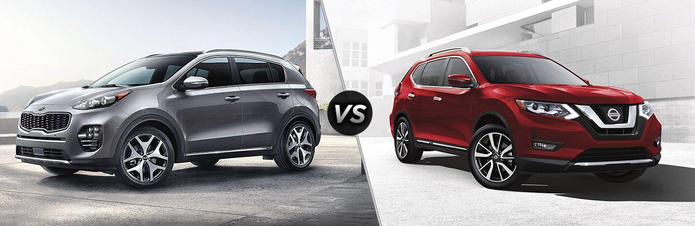 2017 Kia Sportage vs. 2017 Nissan Rogue small SUVs Tampa FL