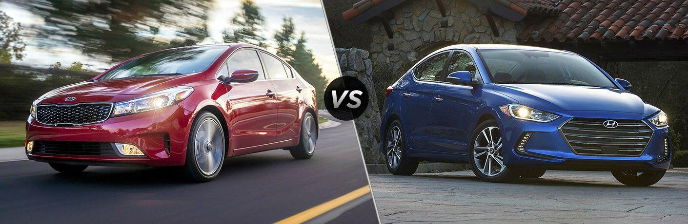 2017 Kia Forte vs. 2017 Hyundai Elantra compacts Tampa FL