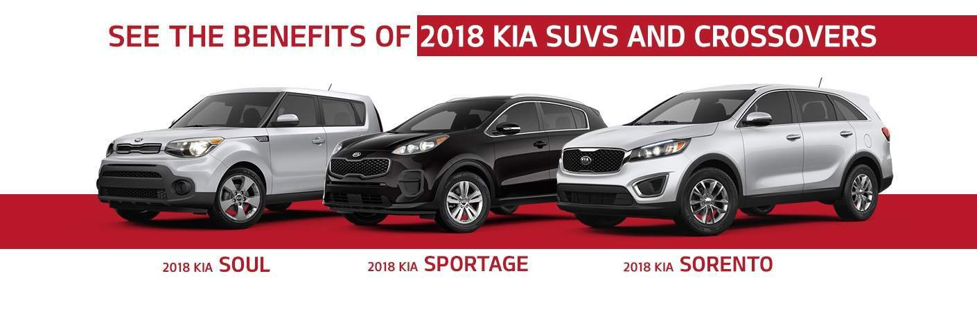 2018 Kia SUV class Soul Sportage and Sorento models