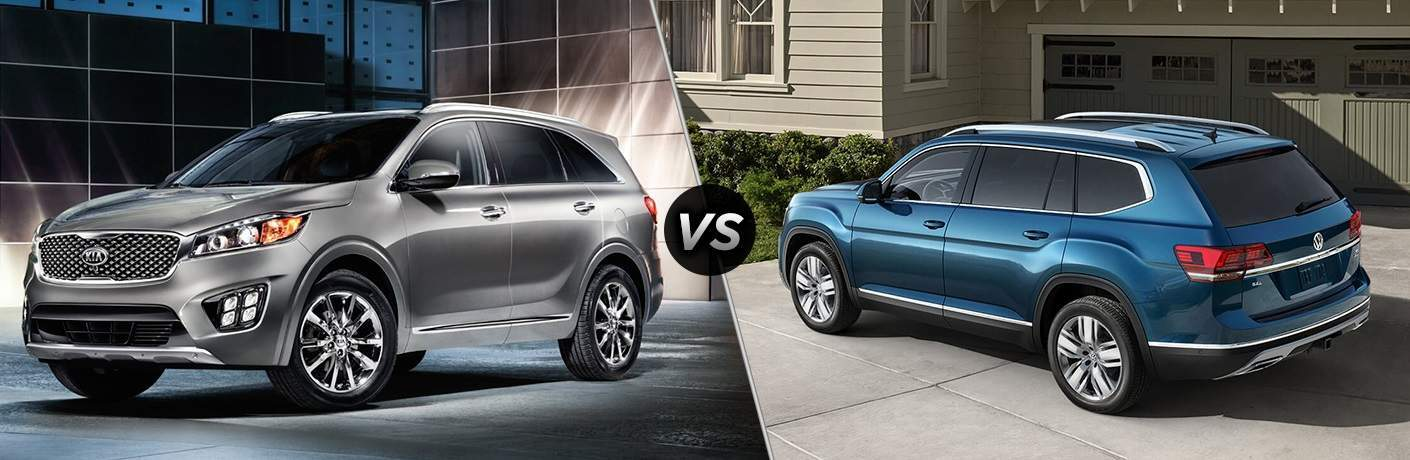 2018 Kia Sorento vs. 2018 VW Atlas