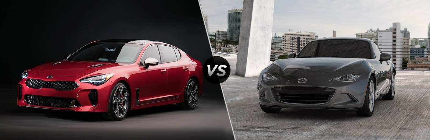 2018 Kia Stinger vs. 2017 Mazda MX-5 Miata RF