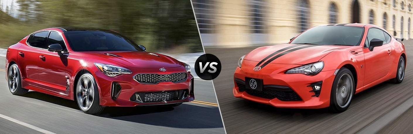 2018 Kia Stinger vs. 2017 Toyota 86 sports cars