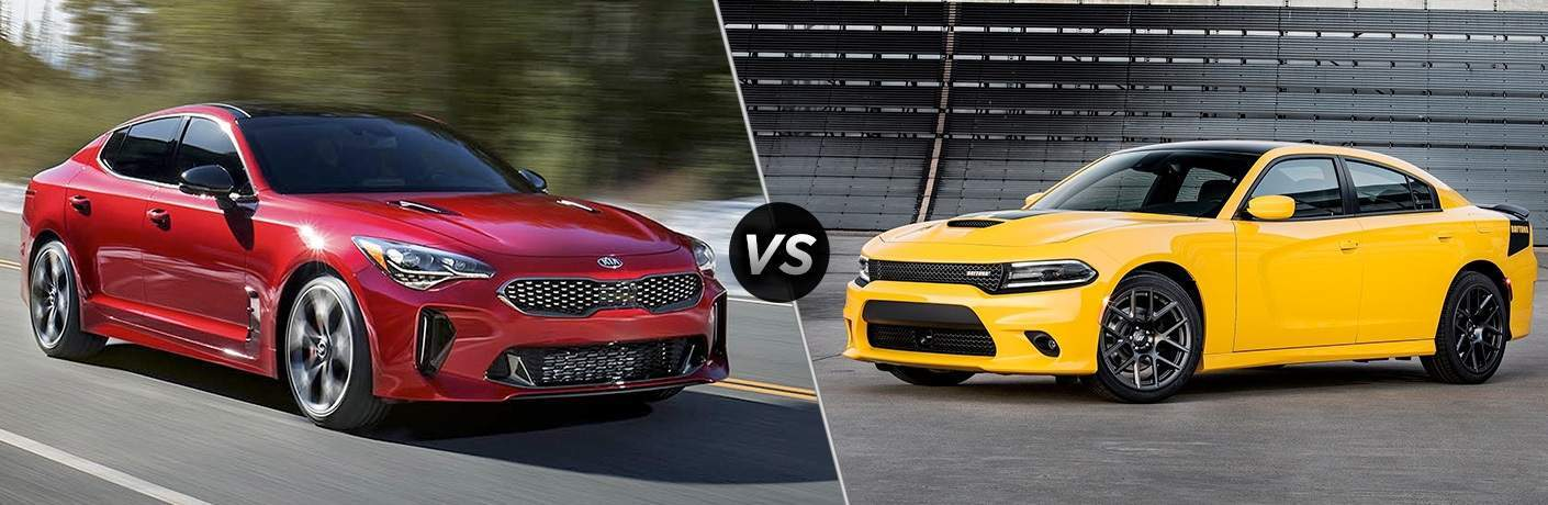 2018 Kia Stinger sports car vs. 2018 Dodge Charger Daytona