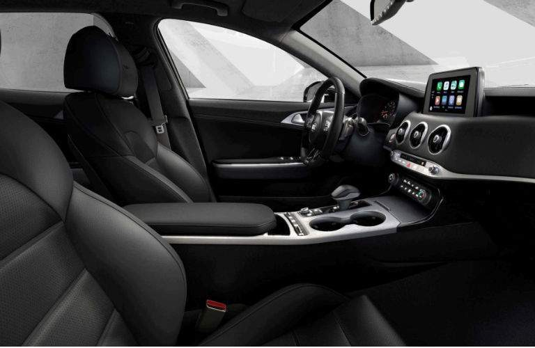 interior of 2018 kia stinger gt shown from passenger seat