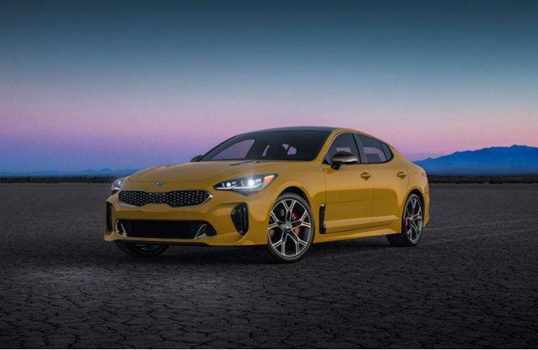 yellow 2018 kia stinger gt