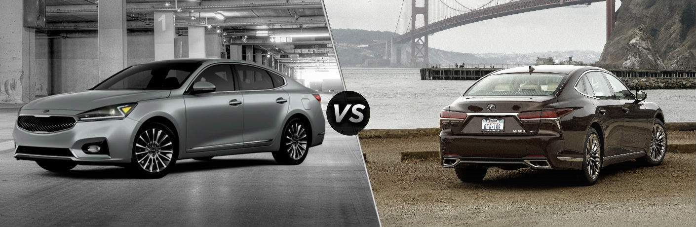 2018 kia cadenza split screen with 2018 lexus ls 500