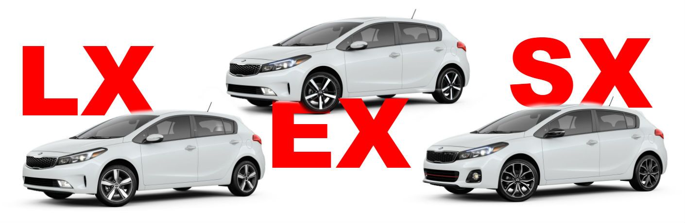 kia forte trim levels lx ex and sx