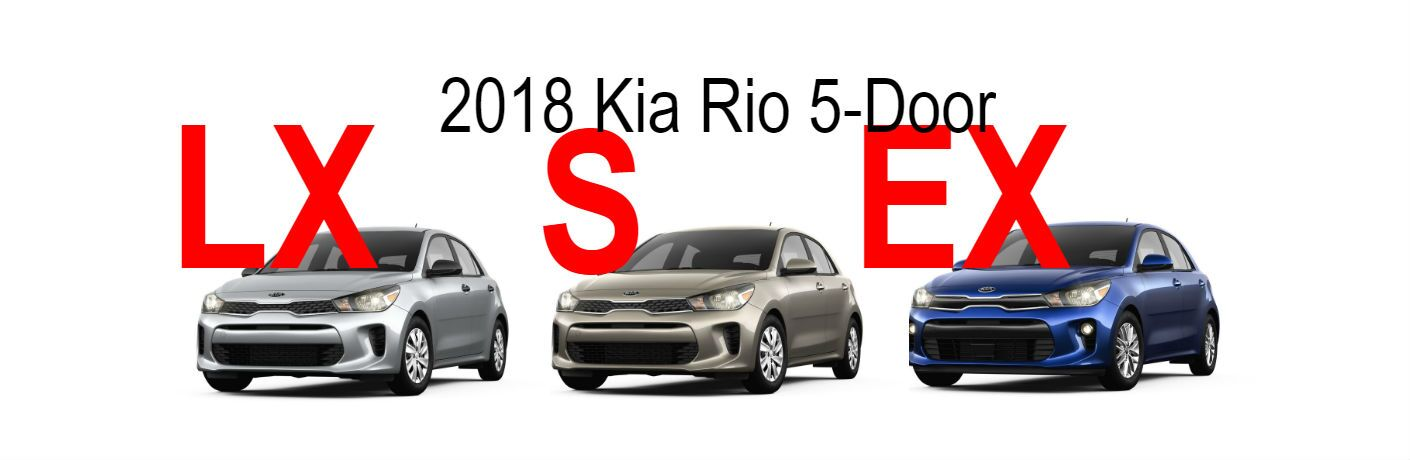 2018 Kia Rio 5-door trim level comparison