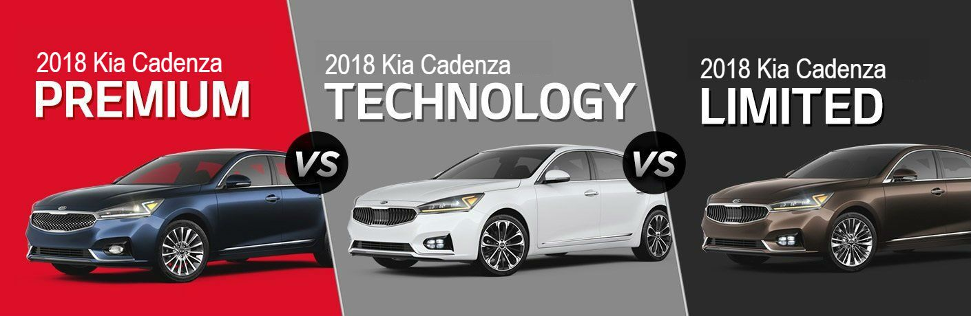 comparison of 2018 kia cadenza trim levels